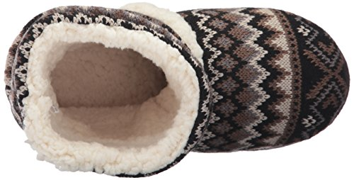 Muk Luks Womens Holly Scrunch Boot-Blk/Neutrl Slipper Black 6pWkgNRIve