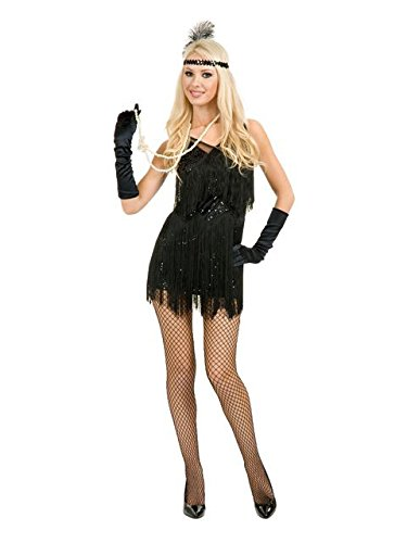 Adult Sexy Chicago Black Flapper (Flapper Costumes Shoes)