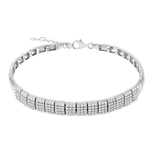 CLEOR - Bracelet CLEOR Argent 925/1000 Oxyde - Femme - 18.5 cm