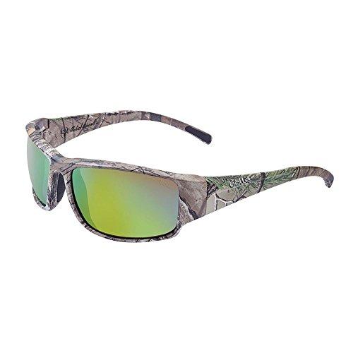 Bolle Keelback Sunglasses, Camo Realtree Xtra/Polarized Brown Emerald Oleo AF