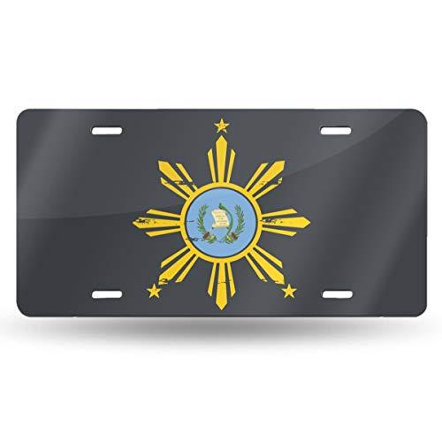 CZD99 Filipino Guatemala Flag Car License Plate Retro License Plates Decorative Front Plate 6