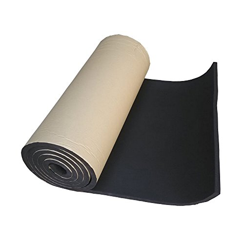 HOUTBY 1Roll 3mm Car Sound Proofing Deadening Insulation Closed Cell Foam Noise Soundproof 50cm X 300cm by HOUTBY