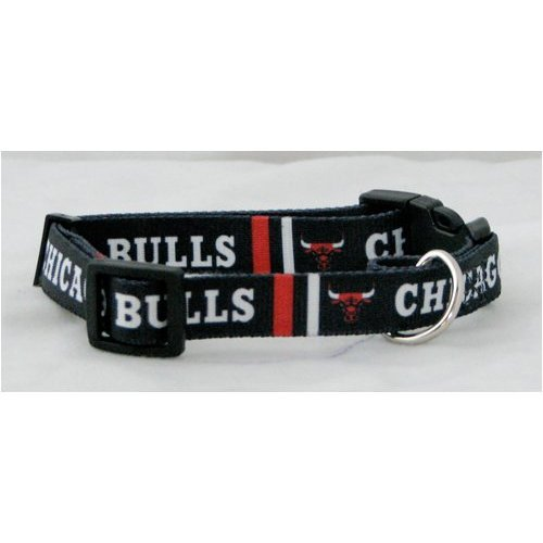 NBA Chicago Bulls Adjustable Pet Collar, X-Small, Team Color
