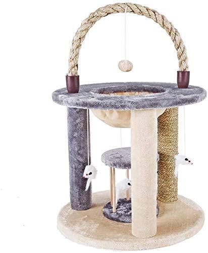 FTFDTMY Tierheim Katzenspielzeug, Kratzbaum Kratzsäule Kleine Sisal-Katzenablage im Freien Einteilige Katzenhängematte…