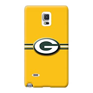 Shock-Absorbing Cell-phone Hard Cover For Samsung Galaxy Note 4 (bPD13312kuMJ) Allow Personal Design Nice Green Bay Packers Pictures