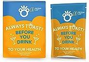 ¡Brindis! Antes de beber gomitas (16 porciones) – Suplemento de apoyo para el hígado – Bolsa de regalo y kit,