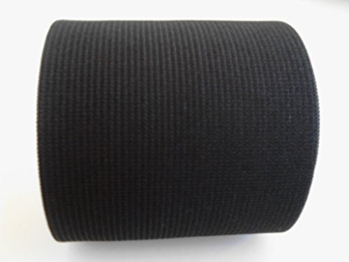 3-inch Wide Black Heavy Knit Stretch ELASTIC 3 Yards By Prolastic (3