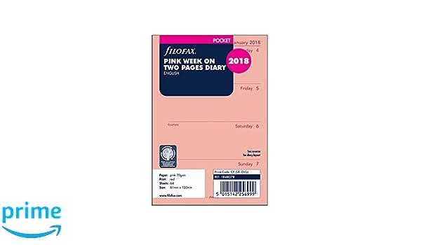 Filofax 19-68278 - Recambio para agenda /(2019, semana en dos ...