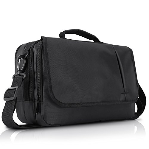 NAVISKAUTO Business Messenger Bag Shoulder Bag for 10.1 inch Dual Portable DVD Player and Tablet-Black (10.1 inch)