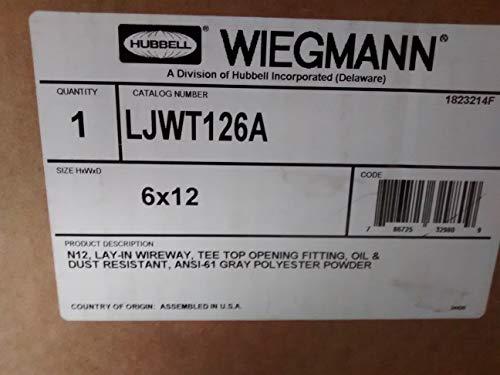 - Wiegmann LJWT126A NEMA 12 Lay-In Wireway Tee, Top Opening Fitting, Steel, 12