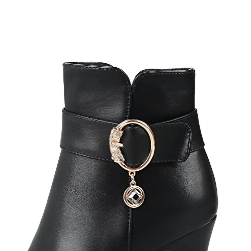 Black Heels High Womens ABL10511 Urethane BalaMasa Boots Zip Glitter 4tq8BIf