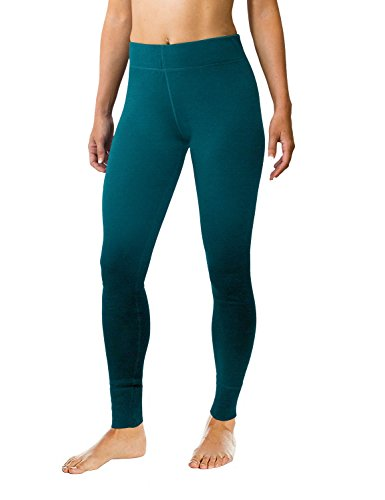 WoolX Avery- Women's Wool Leggings- Midweight Merino Base Layer Bottoms- Warm and Soft- Midnight Teal- MED