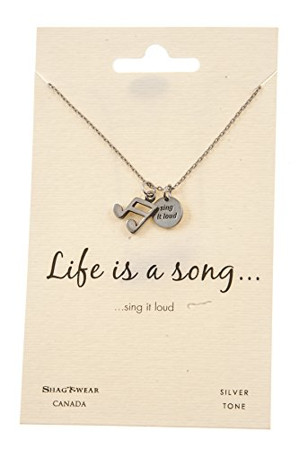 usic Inspirations Quote Pendant Necklace (Sing It Loud Pendant) (Music Necklace)