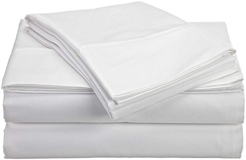JB Linen 600 Thread Count 100% Pure Egyptian Cotton 4-Piece Sheet Set Cot Bed (30