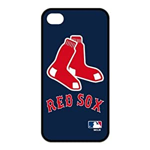 MLB Boston Red Sox Logo for Iphone4/4s Best Rubber Cover Case-Creative New Life by mcsharks