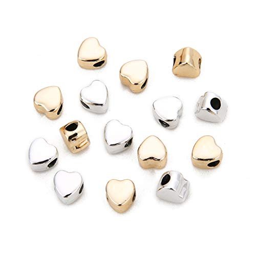24 Pcs Alloy Love Heart Charms Mixed Smooth Metal Charms Pendants Accessory, DIY for Jewelry Making and Crafting
