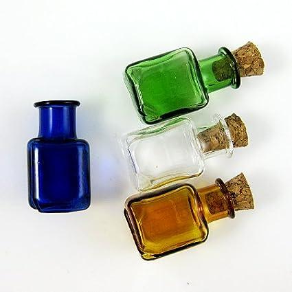 20 x botellas de cristal con tapón de corcho Mini frascos de-surtido de 4