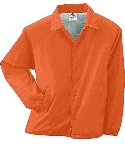 Augusta Sportswear Lined Nylon Coach's Jacket, XL, ORANGE