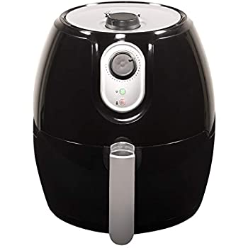 Magic Chef Airfryer 2.6 Quart Compact Snack Sized Easy to Use Air Fryer, Dishwasher Safe Non Stick Basket, MCAF26MB, Black