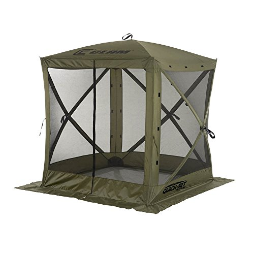 (Quick Set 9870 Traveler Shelter, 72 x 72-Inch Portable Popup Gazebo Durable Tent Bug and Rain Protection Easy Setup (3-4 Person), Forest Green )