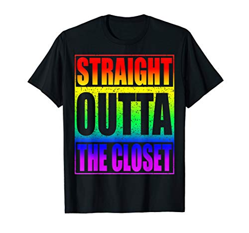 Straight Outta The Closet T-Shirt LGBT Pride Gift Shirt]()