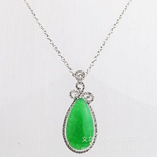 Zhiming Jade Pendant necklace diamond inlaid with egg-shaped necklace Pendant