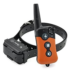 iPets PET619S 100% Waterproof & Rechargeable Dog Shock Collar 900 ft Remote Dog Training Collar with Beep Vibrating Electric Shock Collar for All Size Dogs (10-100lbs)
