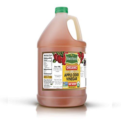 ((1 GALLON) 128oz White House Organic Apple Cider Vinegar)