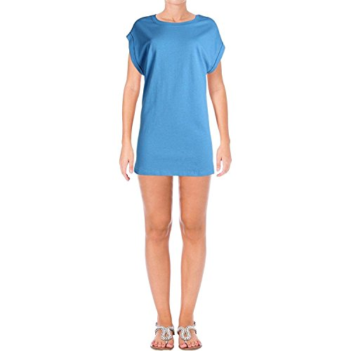 Free People Women's Calabasas Muscle Tunic (Large, Blue) (Free People Cotton Tunic)
