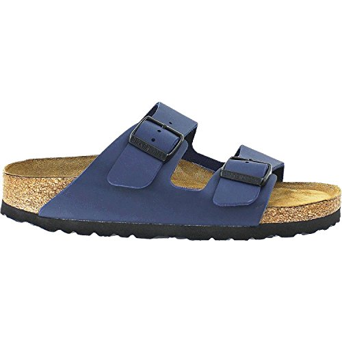 Birkenstock Unisex Arizona Blue Birko Flor Sandals - 7-7.5 B(M) US Women by Birkenstock