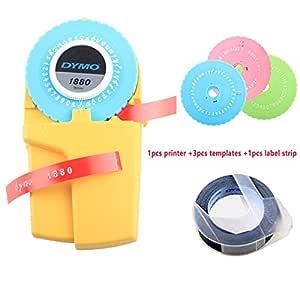For shoppingchain Etiqueta Manual 3D de 9 mm para Impresora Dymo ...