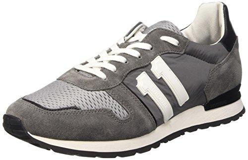 Bikkembergs Mant 650 L.Shoe M Nylon/Suede Scarpe Low-Top, Uomo Multicolore (Dk.grey/Grey/Black)