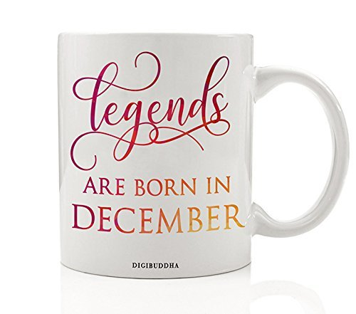 Legends Are Born In December Mug, Birth Month Quote Diva Star Winner The Best Winter Christmas Gift Idea Funny Birthday Present Women Men Husband Wife Coworker 11oz Ceramic Tea Cup Digibuddha DM0351