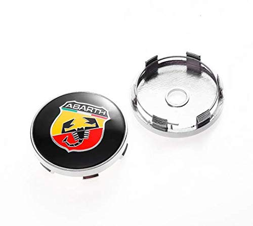 4pcs W211 60mm Car Emblem Badge Wheel Hub Caps Centre Cover ABARTH Racing Italy For FIAT 124 125 125 500 695 OT2000 Coupe
