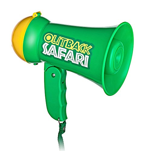 The Talk 2016 Halloween Costumes (Pretend Play Kids Safari Outback Megaphone with Siren Sound - Handheld Mic Toy)