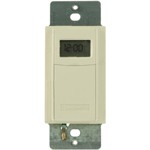 Intermatic ST01AC Heavy Duty In-Wall Timer with Astronomic Feature, Almond