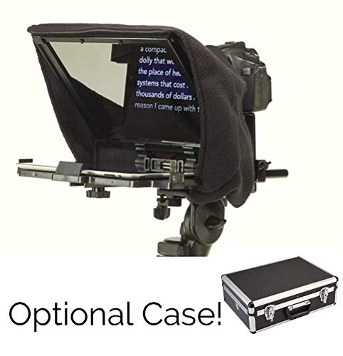 (Professional and Portable Teleprompter with Optional Aluminum Case)