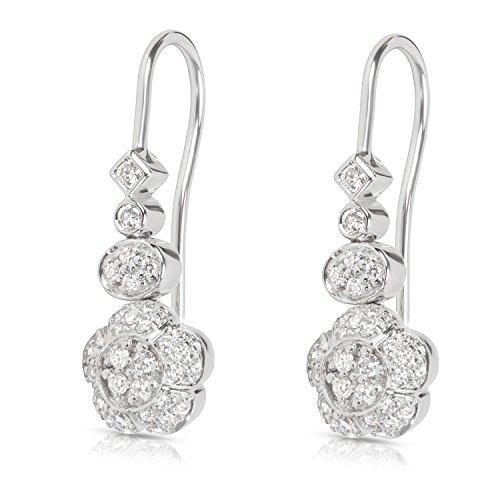 Diamond Flower Drop Earrings in 18KT White Gold 0.45 (18kt Diamond Flower)