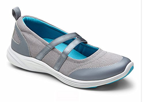 Vionic Womens Agile Opal Slip-On Mary Jane Sneaker Grey Size 10 Wide