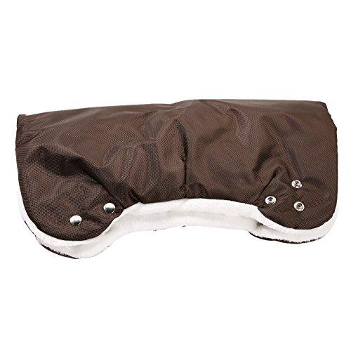 Baby Stroller Winter Waterproof Pram Hand Warm Glove(Coffee) - 2