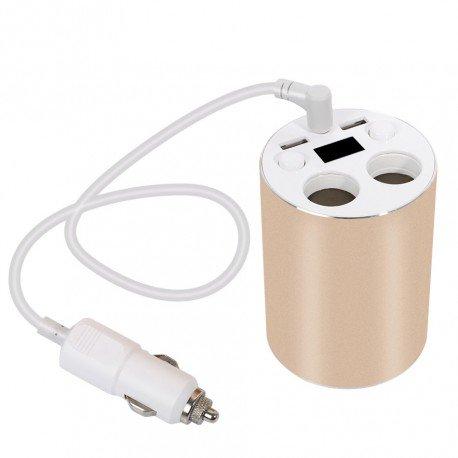 Taza USB Cargador - Cable de 45CM, Cigarrillo de 80W Doble ...