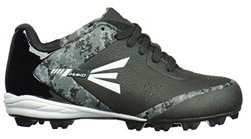 Easton MAKO Low Kids' Baseball Cleats - Black/Lime-1.5 - Image 1