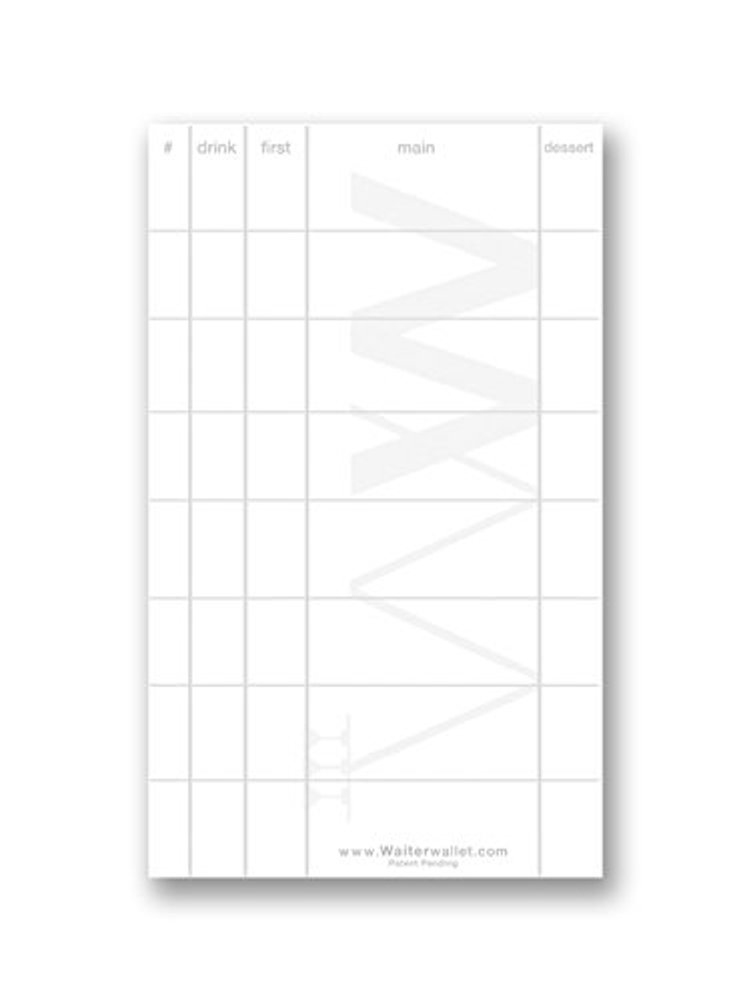 "Waiter Wallet Jr. Order Pads | Perfectly Formatted For Accurate Waiter & Waitress Guest Order Taking | Durable Stapled Construction | 50 Perforated Pages In Each Pad | 12 pack of 3"" x 5"" Pads"