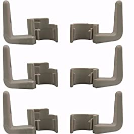 3 pac Cord Hook for Eureka Sanitaire Handle Vacuums Commercial Upper Lower Clip Beige Plastic