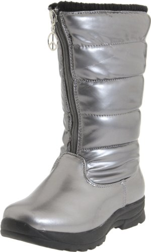 Tundra Puffy Boot (Little Kid/Big Kid),Silver,6 M US Big Kid ()