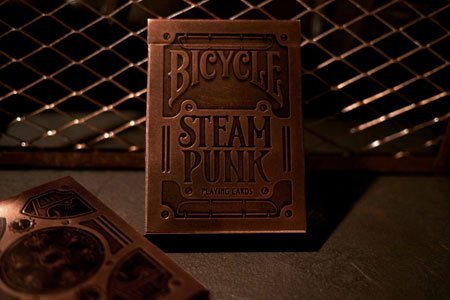 BICYCLE STEAMPUNK PLAYING CARDS 3 DECK SET BY USPCC & THEORY11 5