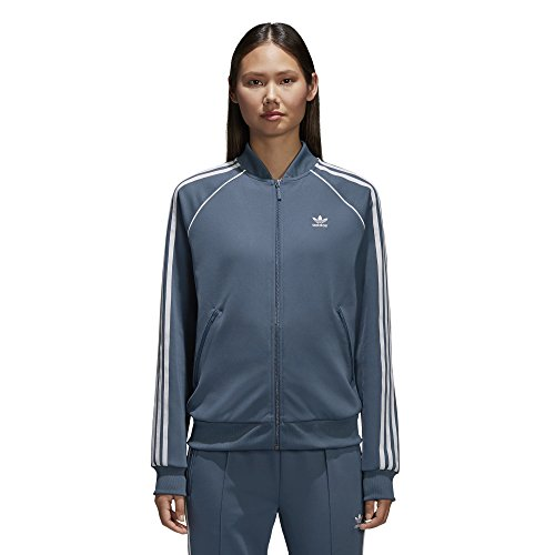 adidas Women's Superstar Tracktop, Dark Steel, S Adidas Court Star