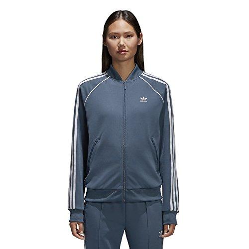 - adidas Women's Superstar Tracktop, Dark Steel, XL