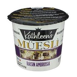 Kathleen\'s Raisin Ambrosia Muesli 2 oz (Pack of 4)
