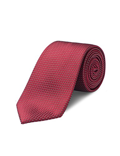 Origin Ties Mens Fashion Pin Dot Burgundy Skinny Tie Handmade 100% Silk 3